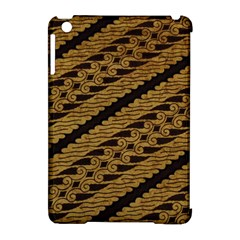 Traditional Art Indonesian Batik Apple Ipad Mini Hardshell Case (compatible With Smart Cover)