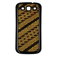 Traditional Art Indonesian Batik Samsung Galaxy S3 Back Case (black)