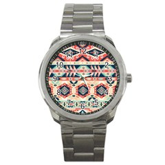 Aztec Pattern Sport Metal Watch by BangZart