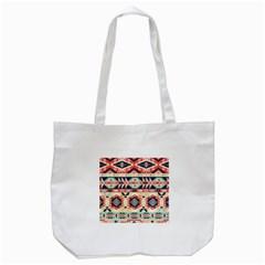 Aztec Pattern Tote Bag (white)