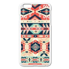 Aztec Pattern Apple Iphone 6 Plus/6s Plus Enamel White Case