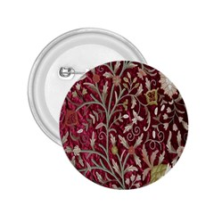 Crewel Fabric Tree Of Life Maroon 2 25  Buttons