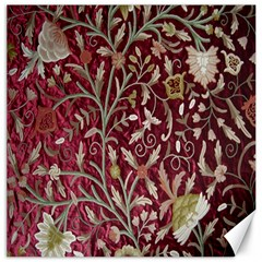 Crewel Fabric Tree Of Life Maroon Canvas 20  X 20