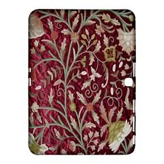 Crewel Fabric Tree Of Life Maroon Samsung Galaxy Tab 4 (10 1 ) Hardshell Case