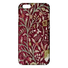 Crewel Fabric Tree Of Life Maroon Iphone 6 Plus/6s Plus Tpu Case by BangZart
