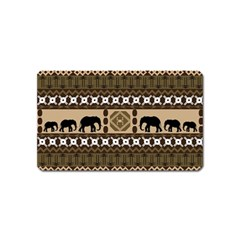 Elephant African Vector Pattern Magnet (name Card)