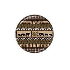 Elephant African Vector Pattern Hat Clip Ball Marker (10 Pack)