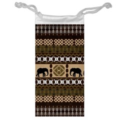Elephant African Vector Pattern Jewelry Bag