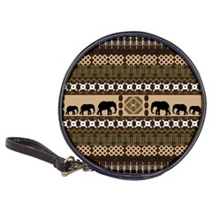 Elephant African Vector Pattern Classic 20 Cd Wallets