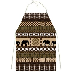 Elephant African Vector Pattern Full Print Aprons
