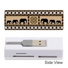 Elephant African Vector Pattern Memory Card Reader (stick)