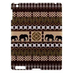 Elephant African Vector Pattern Apple Ipad 3/4 Hardshell Case by BangZart