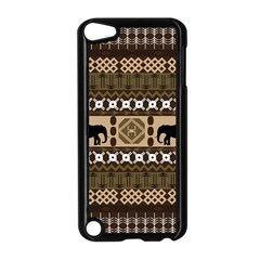 Elephant African Vector Pattern Apple Ipod Touch 5 Case (black)