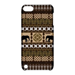 Elephant African Vector Pattern Apple Ipod Touch 5 Hardshell Case With Stand