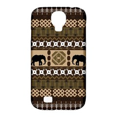 Elephant African Vector Pattern Samsung Galaxy S4 Classic Hardshell Case (pc+silicone)
