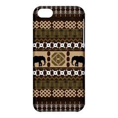 Elephant African Vector Pattern Apple Iphone 5c Hardshell Case by BangZart