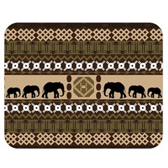 Elephant African Vector Pattern Double Sided Flano Blanket (medium)