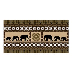 Elephant African Vector Pattern Satin Shawl by BangZart