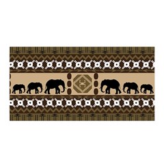 Elephant African Vector Pattern Satin Wrap by BangZart