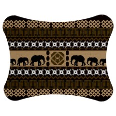 Elephant African Vector Pattern Jigsaw Puzzle Photo Stand (bow)