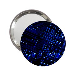 Blue Circuit Technology Image 2 25  Handbag Mirrors