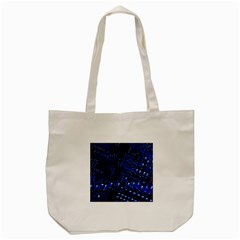 Blue Circuit Technology Image Tote Bag (cream) by BangZart