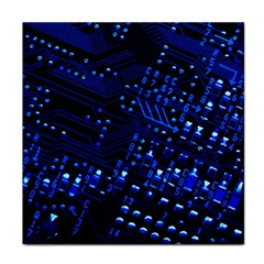 Blue Circuit Technology Image Face Towel