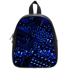 Blue Circuit Technology Image School Bags (small)  by BangZart