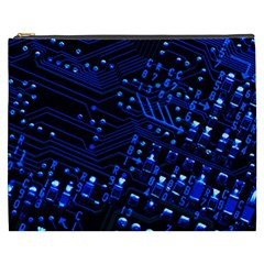 Blue Circuit Technology Image Cosmetic Bag (xxxl)  by BangZart
