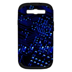 Blue Circuit Technology Image Samsung Galaxy S Iii Hardshell Case (pc+silicone) by BangZart