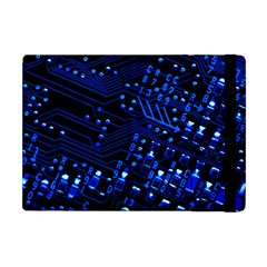 Blue Circuit Technology Image Apple Ipad Mini Flip Case by BangZart