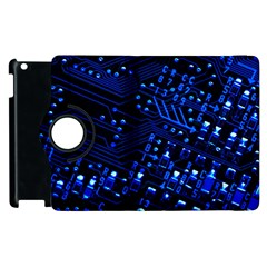 Blue Circuit Technology Image Apple Ipad 3/4 Flip 360 Case by BangZart