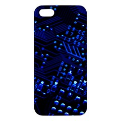 Blue Circuit Technology Image Iphone 5s/ Se Premium Hardshell Case