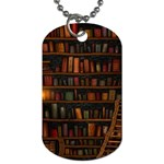 Books Library Dog Tag (Two Sides) Back