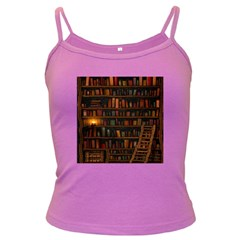 Books Library Dark Spaghetti Tank