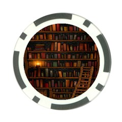 Books Library Poker Chip Card Guard