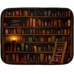 Books Library Double Sided Fleece Blanket (mini)