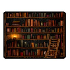 Books Library Double Sided Fleece Blanket (small)