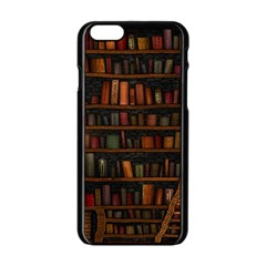 Books Library Apple Iphone 6/6s Black Enamel Case by BangZart
