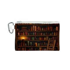 Books Library Canvas Cosmetic Bag (s) by BangZart