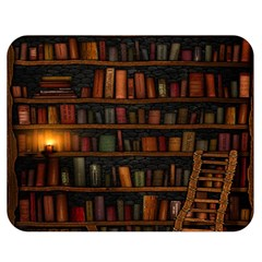 Books Library Double Sided Flano Blanket (medium)