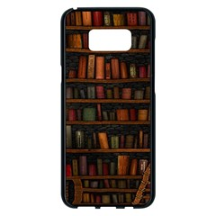 Books Library Samsung Galaxy S8 Plus Black Seamless Case