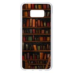 Books Library Samsung Galaxy S8 Plus White Seamless Case