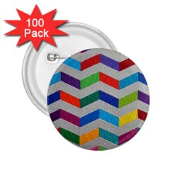 Charming Chevrons Quilt 2 25  Buttons (100 Pack)