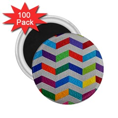 Charming Chevrons Quilt 2 25  Magnets (100 Pack)