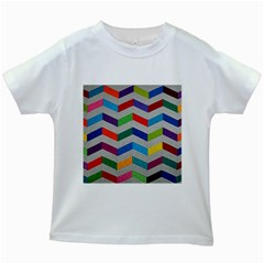 Charming Chevrons Quilt Kids White T Shirts