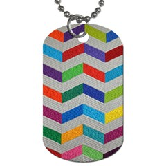 Charming Chevrons Quilt Dog Tag (one Side) by BangZart