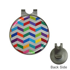 Charming Chevrons Quilt Hat Clips With Golf Markers