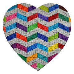 Charming Chevrons Quilt Jigsaw Puzzle (heart)