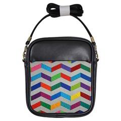 Charming Chevrons Quilt Girls Sling Bags
